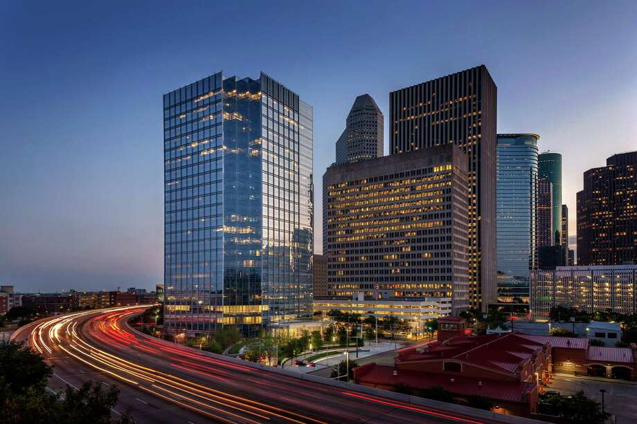 The Mickey Leland Federal Building, left, was renovated in a project valued at $88 million, the General Services Administration says. Photo: Aker Imaging / © 2015 AKER IMAGING