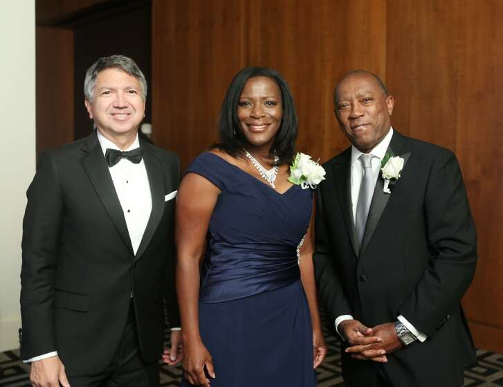 Ron Trevino, Marvelette Hunter and State Representative Sylvester Turner