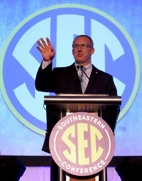 SEC Commissioner Greg Sankey speaks during the Southeastern Conference NCAA college football media days, Monday, July 13, 2015, in Hoover, Ala. (AP Photo/Butch Dill) Photo: Butch Dill, FRE / FR111446 AP