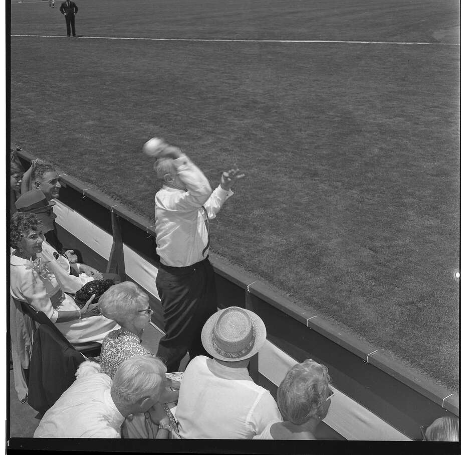 Casey Stengel at the 1961 All-Star game at Candlestick Park. Stengel would throw out the first pitch Photo: Gordon Peters, The Chronicle