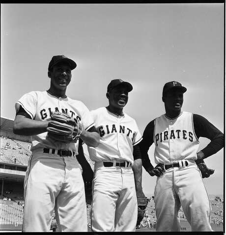 Orlando Cepeda, Willie Mays and Roberto Clemente  at the 1961All Star Game Photo: Gordon Peters, The Chronicle
