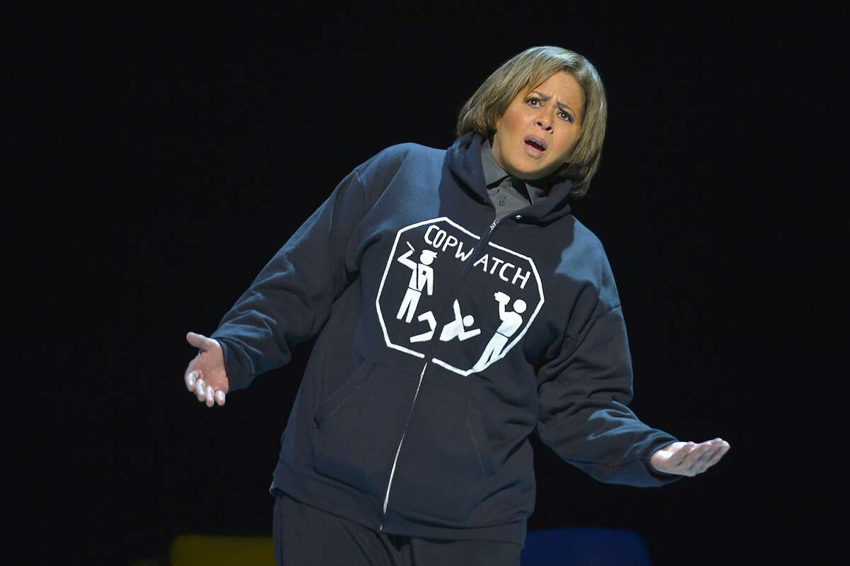 """Anna Deavere Smith in her one-woman multi-character show """"Notes from the Field: Doing Time in Education, The California Chapter"""" at Berkeley Rep"""