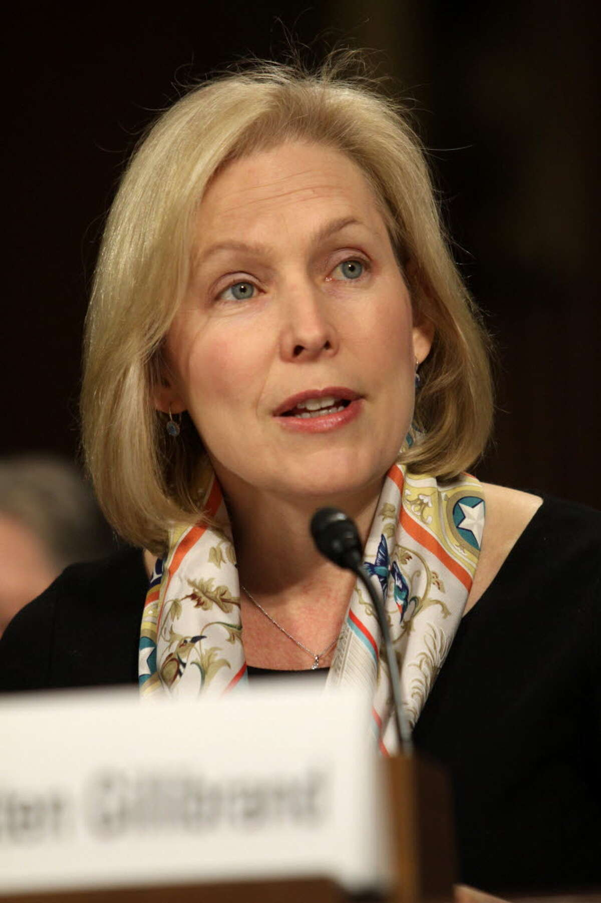 Sen. Kirsten Gillibrand, D-N.Y. testifies on Capitol Hill in Washington, Tuesday, Dec. 9, 2014, before the Senate Crime and Terrorism subcommittee hearing: