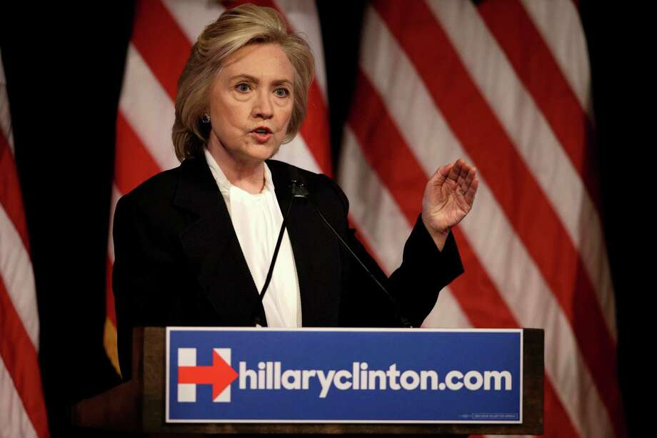 Democratic presidential candidate Hillary Rodham Clinton speaks at a campaign event in New York, Monday, July 13, 2015. (AP Photo/Seth Wenig) Photo: Seth Wenig, STF / AP
