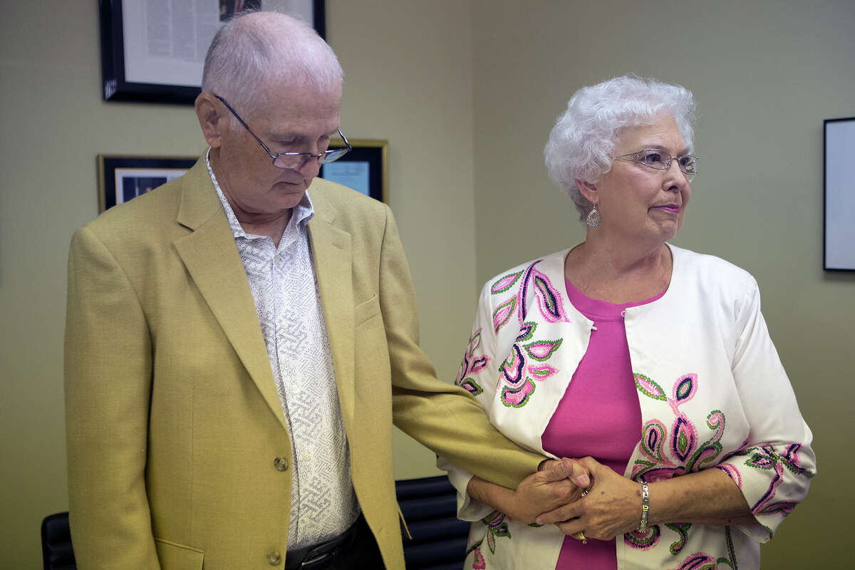 David Temple's mother, Maureen, with husband Kenneth at Monday's news conference, said the family considered Belinda Temple the daughter they never had.