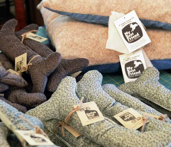 "Wool filled dog ""bones"" and dog beds at the former state Sen. Cecilia Tkaczyk's home for her new company Cece's Wool Friday July 10, 2015 in Delanson, NY.  (John Carl D'Annibale / Times Union) Photo: John Carl D'Annibale / 00032551A"