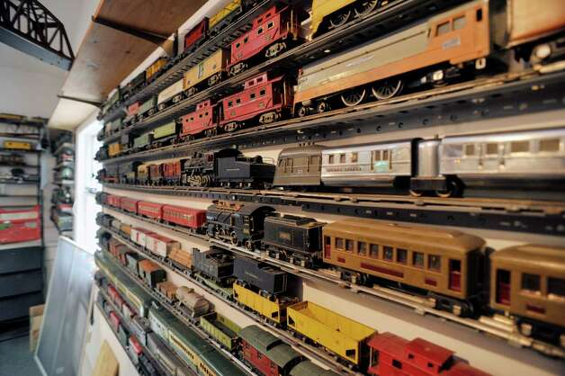A view of some of the O scale train cars seen here on Wednesday, July 8, 2015, in Delmar, N.Y.  The trains are part of the huge collection of Gerry Winn.    (Paul Buckowski / Times Union) Photo: PAUL BUCKOWSKI / 00032481A