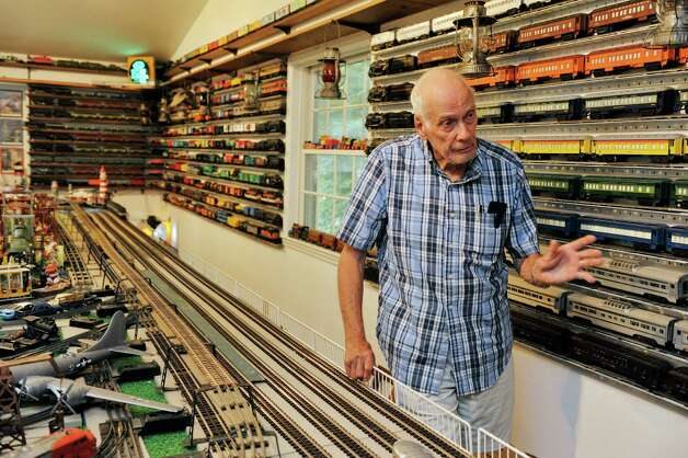 Gerry Winn talks about his huge train set and collection of train cars and engines on Wednesday, July 8, 2015, in Delmar, N.Y.      (Paul Buckowski / Times Union) Photo: PAUL BUCKOWSKI / 00032481A