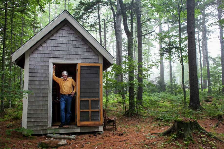 Douglas Preston, a leading critic of Amazon, uses this shack as his writing space in Pemaquid, Maine. Groups representing authors, agents and independent booksellers are urging an antitrust probe of Amazon.  Photo: CRAIG DILGER, STR / NYTNS
