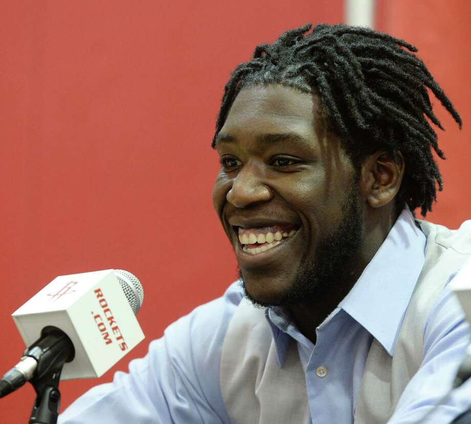 Montrezl Harrell was drafted out of Louisville, and the Rockets like the defensive foundation the forward built with the Cardinals. Photo: Jon Shapley, Staff / © 2015 Houston Chronicle