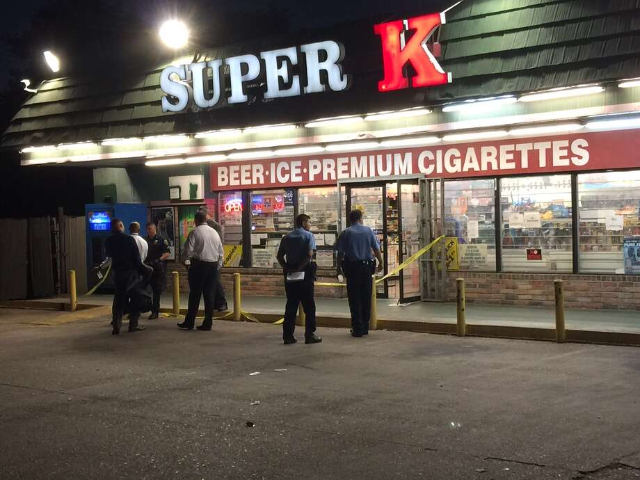 Two masked men were shot during an attempted robbery at a Super K store along Beechnut near Jorine on July 13, 2015.