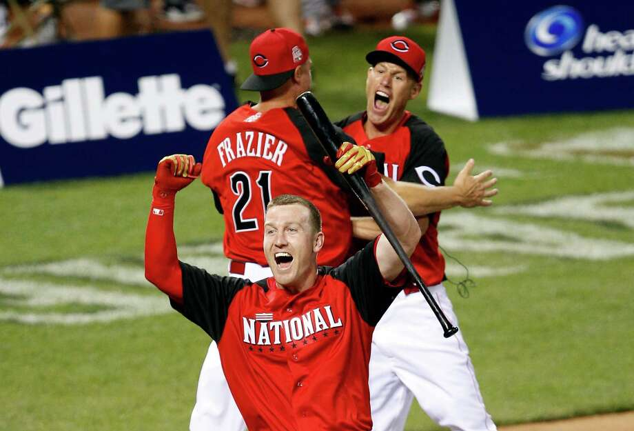 Todd Frazier was a Reds menace in beating Prince Fielder, Josh Donaldson and Joc Pederson en route to the title Monday. Photo: Joe Robbins, Stringer / 2015 Getty Images