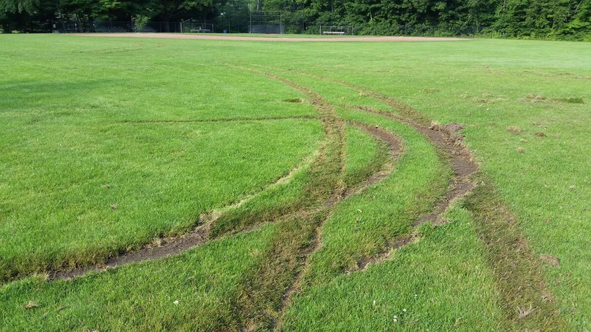 The school football field was vandalized over the weekend, Ridgefield police said.