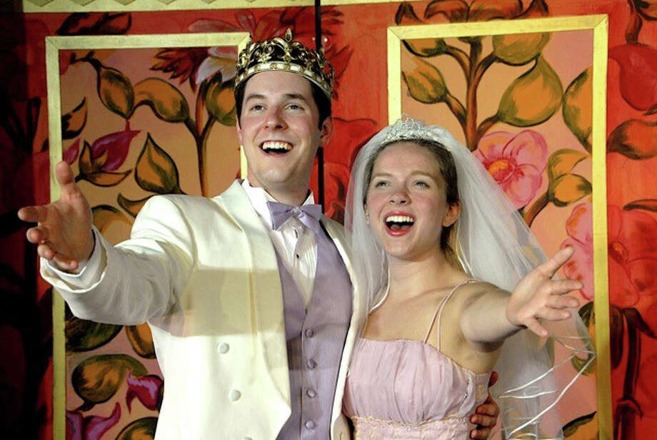 "Matthew Grass and Andreanna Buccheri play the Prince and Cinderella in ""Cinderella, a Fairy's Tale"" at the Summer Theatre of New Canaan. Photo: Contributed Photo / Stamford Advocate Contributed"
