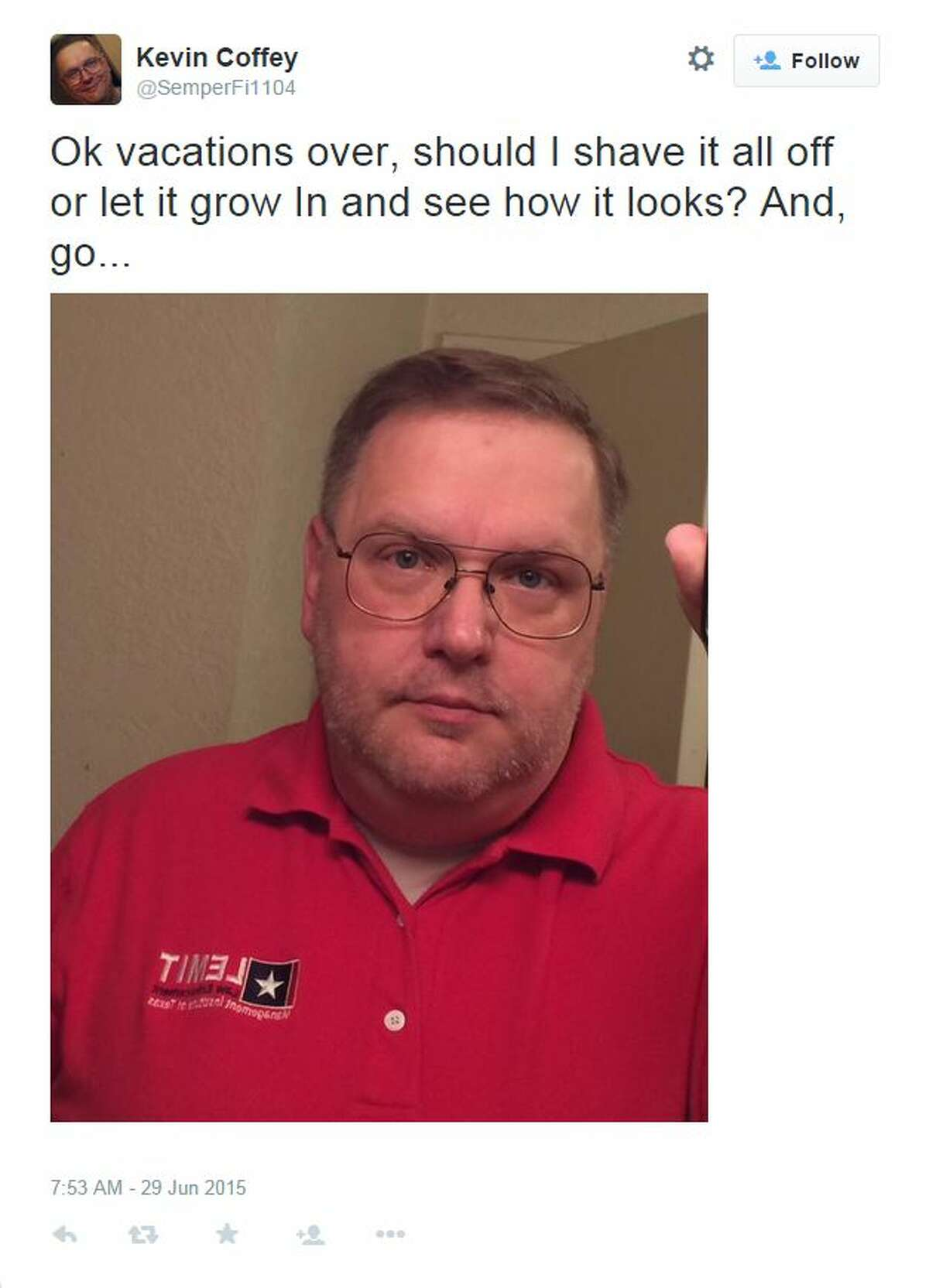 The 16-year-old girl has accused Maypearl Police Chief Kevin Coffey, 49, of sending her explicit messages on Facebook and on her phone and making inappropriate comments about her body over the course of two years.