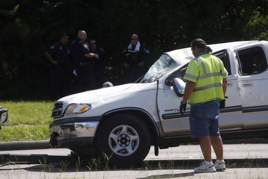 At least one suspect is on the run morning after leading deputies on a chase in north Harris County, Tuesday, July 14, 2015.. | Photo: Cody Duty | Houston Chronicle