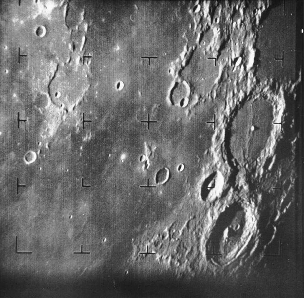 Images of famous NASA first encounters Surface of Earth's moon Date: July 31, 1964 Spacecraft: Ranger 7 Source: NASA
