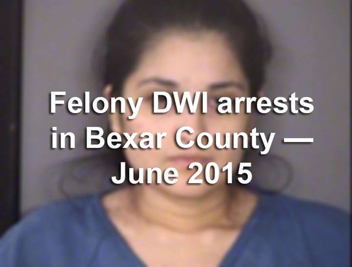 Scroll through the gallery to view the booking photos of the 68 people arrested in Bexar County on felony drunken driving charges in June 2015