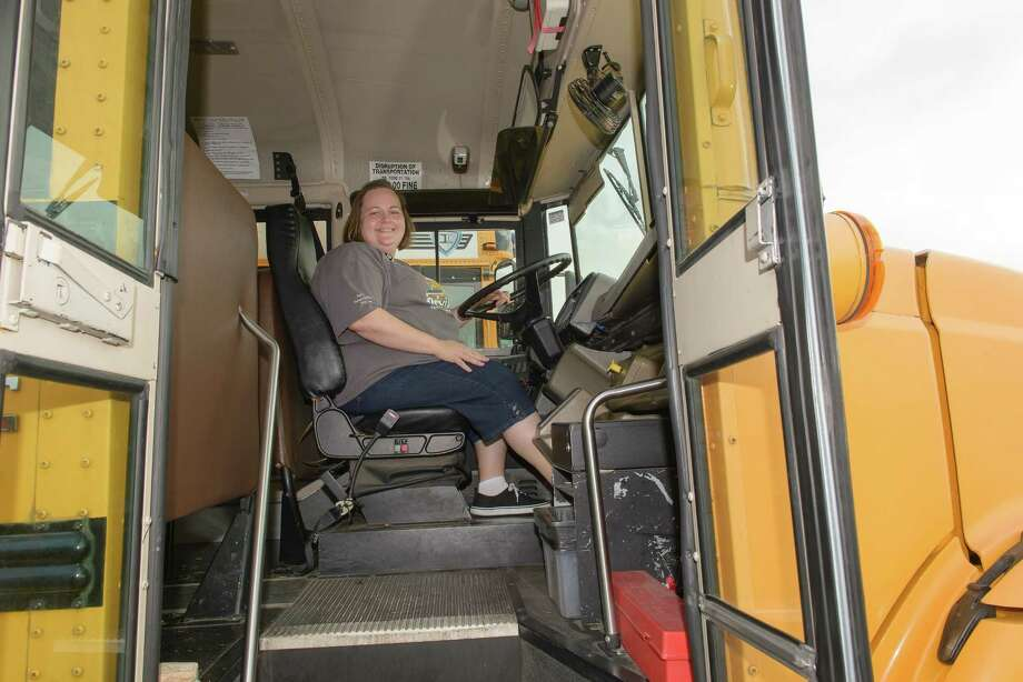 Teresa Verdahl is a bus driver at Pearland Independent School District. District officials say they have been able to keep many drivers through guaranteed pay and incentives.Teresa Verdahl is a bus driver at Pearland Independent School District. District officials say they have been able to keep many drivers through guaranteed pay and incentives. Photo: ÂKim Christensen, Photographer / ©Kim Christensen