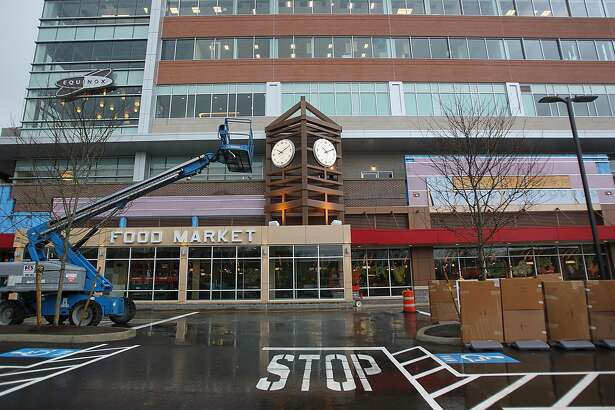 BOSTON - APRIL 23: This is the entrance to the food market of the new Wegmans store in Boston. (Photo by Suzanne Kreiter/The Boston Globe via Getty Images)