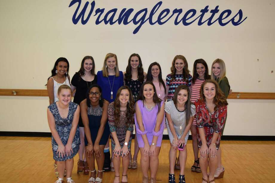 Friendswood High School Wranglerettes welcome 13 new members for 2015-16. From left, front, are: Hannah Bickham, Kelsey Martin, Courtney Banfield, Annie Clements, Ashley Jezek and Makenna Schneider; back: Michelle Leon, Laura Leighton, Hailey Gest, senior liaison Lizzie Clements, Camryn Moore, Libbey Dean, Sommer Salinas and Blair Burwell. Director is Alyssa Falcone. Friendswood High School Wranglerettes welcome 13 new members for 2015-16. From left, front, are: Hannah Bickham, Kelsey Martin, Courtney Banfield, Annie Clements, Ashley Jezek and Makenna Schneider; back: Michelle Leon, Laura Leighton, Hailey Gest, senior liaison Lizzie Clements, Camryn Moore, Libbey Dean, Sommer Salinas and Blair Burwell. Director is Alyssa Falcone. Photo: Friendswood ISD