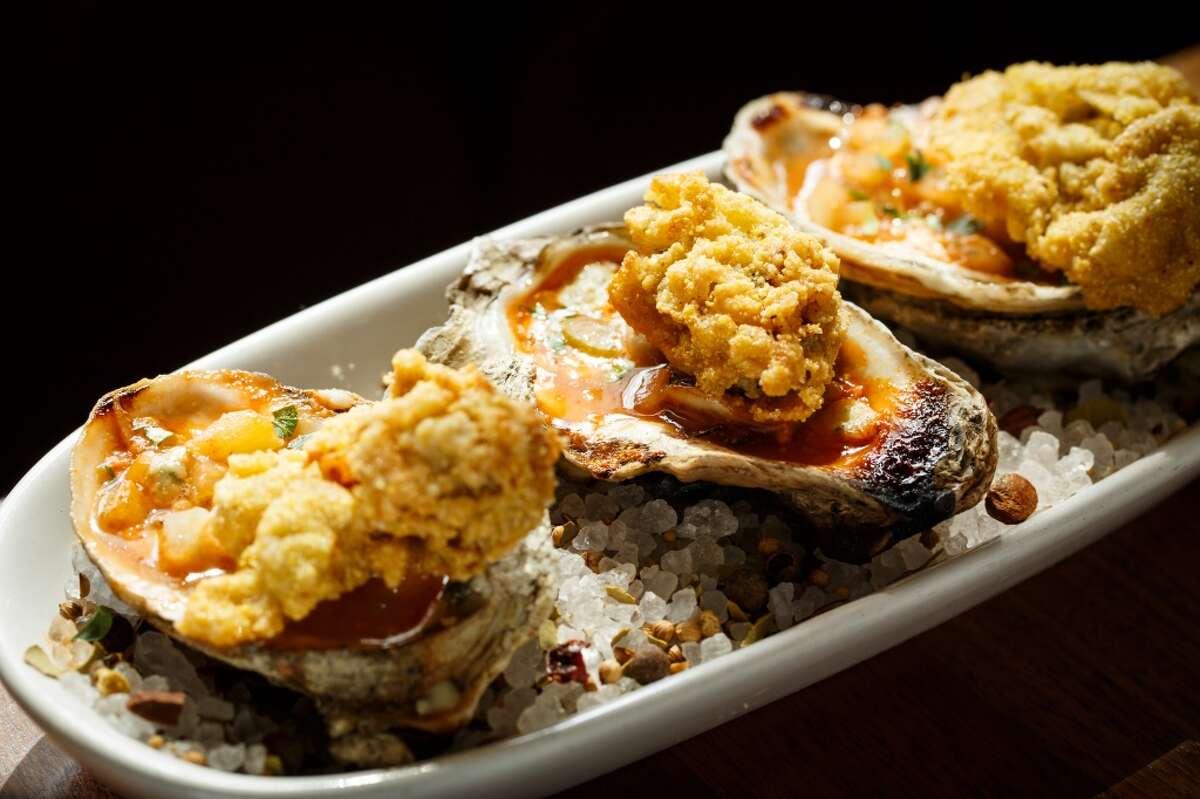 Grilled Oysters Buffalo Style at BRC Gastropub.