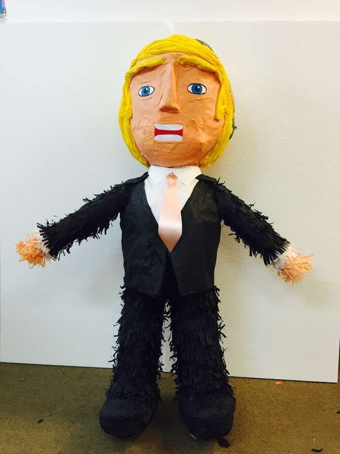 This 4-foot figure of Donald Trump has just been finished for a customer who ordered it at Piñatas Etc. in southwest Houston, July 14, 2015. (Photo: Ezekiel Vasquez, Piñatas Etc.)