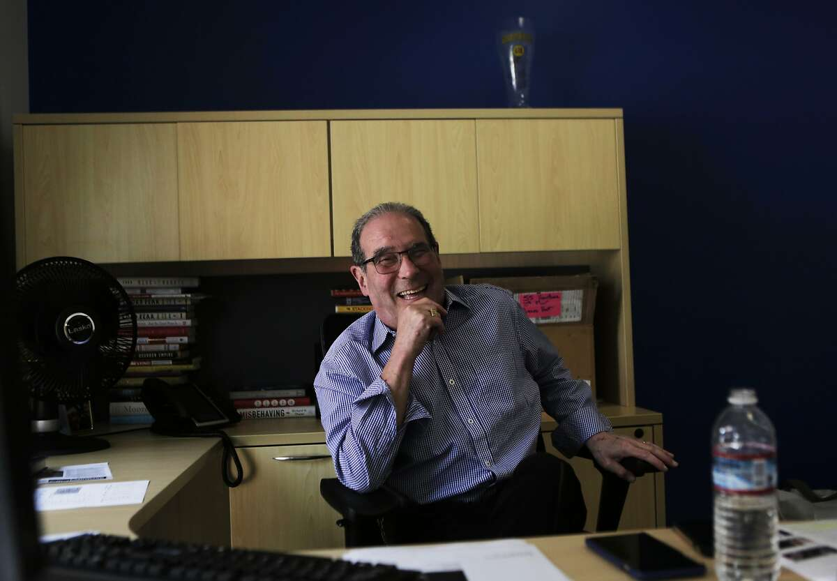 KGO-radio talk show host Ronn Owens is pictured in his office in San Francisco, Ca. on Tuesday, July 14, 2015. He is having brain surgery for his Parkinson's Disease in August.