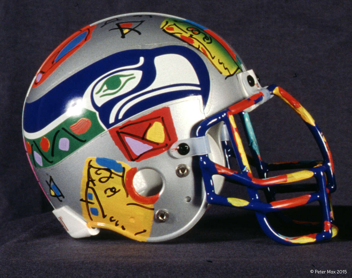 Seahawks helmet by Peter Max