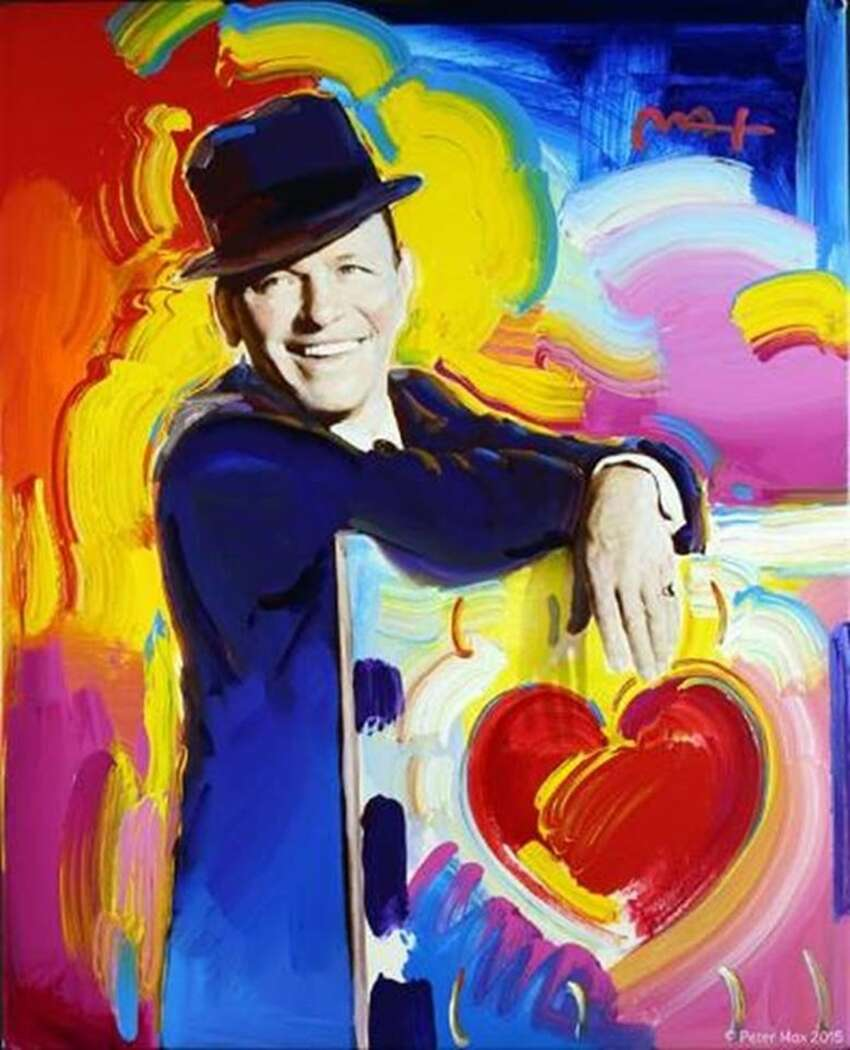 Frank Sinatra in honor of Sinatra's Centennial by Peter Max