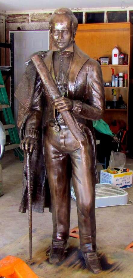 John Kirby Allen, in bronze form.