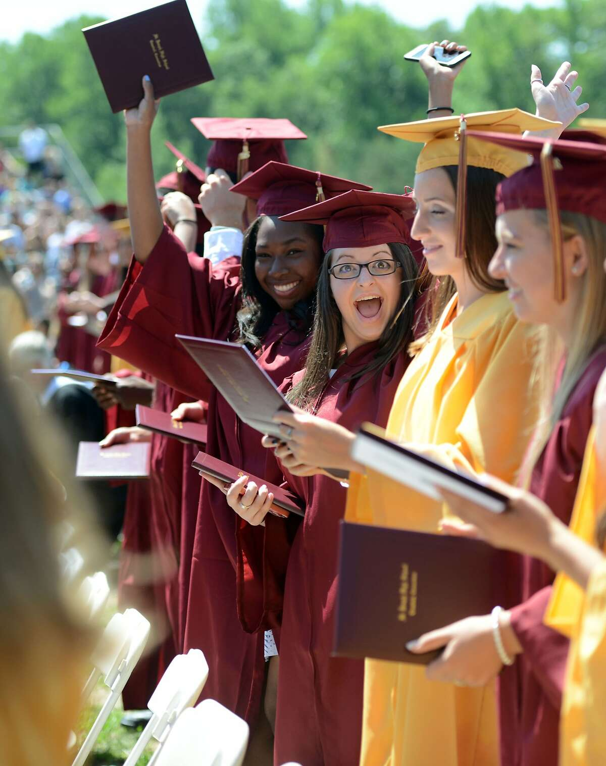 51. St. Joseph High School, Trumbull Academics: C+Student Culture & Diversity: B-(Rankings out of 64 total schools. Source: Niche )