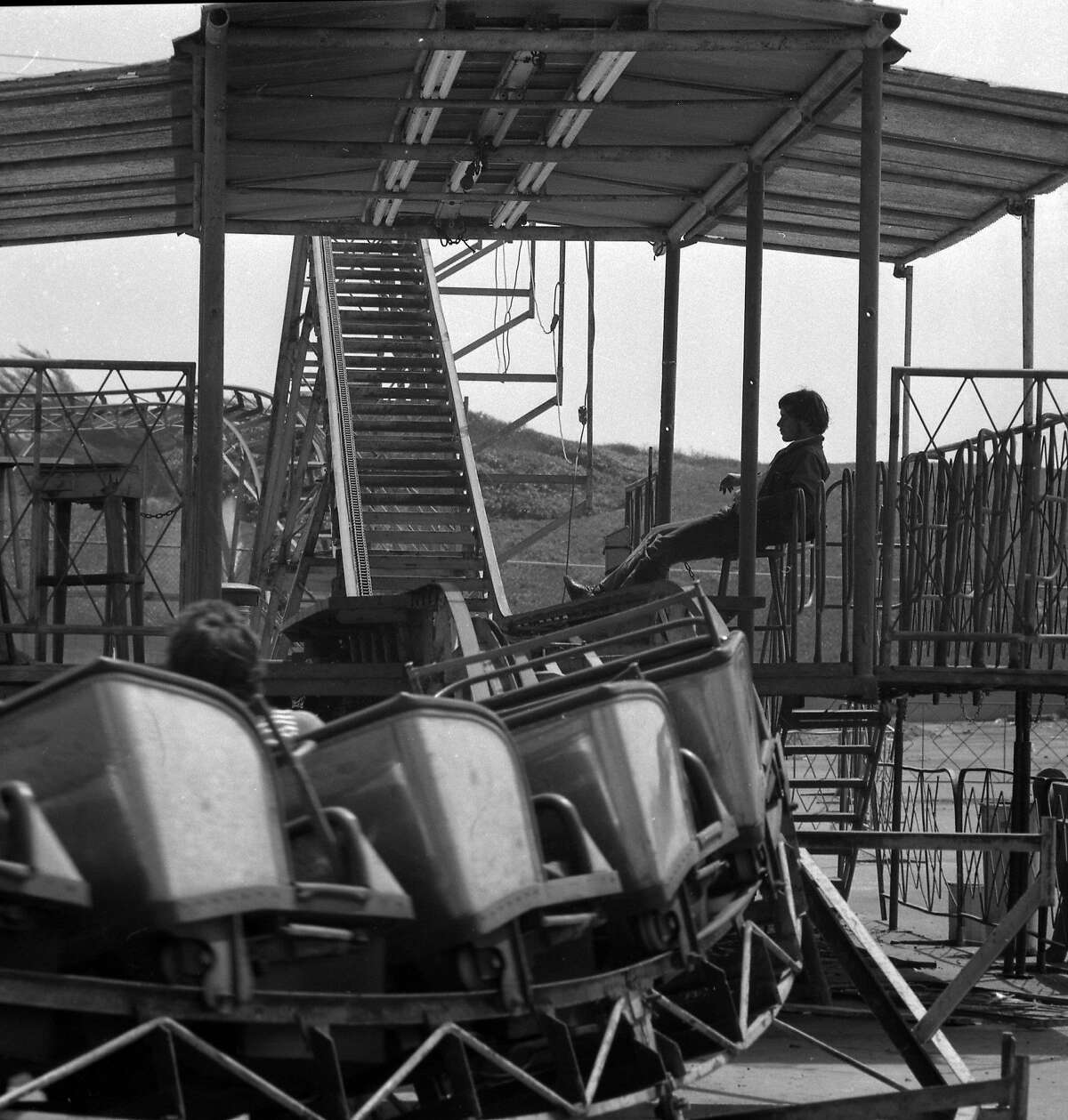 Photos taken on Aug. 17, 1972, the last day of operation at Playland at the Beach. The amusement park in San Francisco was demolished the next month.
