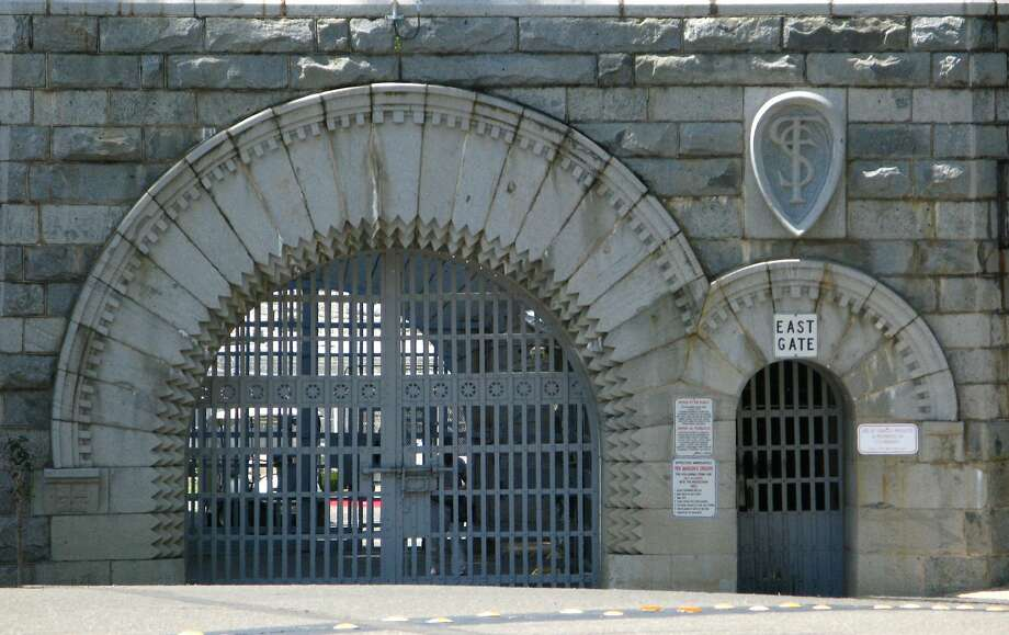 "The east gate of Folsom Prison, immortalized in Johnny Cash's signature hit ""Folsom Prison Blues."" The museum sells posters of photographs from Cash's visit to the facility. Photo: Spud Hilton, The Chronicle"