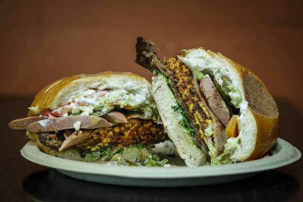 The Torta Cubana sandwich from That's It Market is seen on Tuesday, July 14, 2015 in San Francisco, Calif.