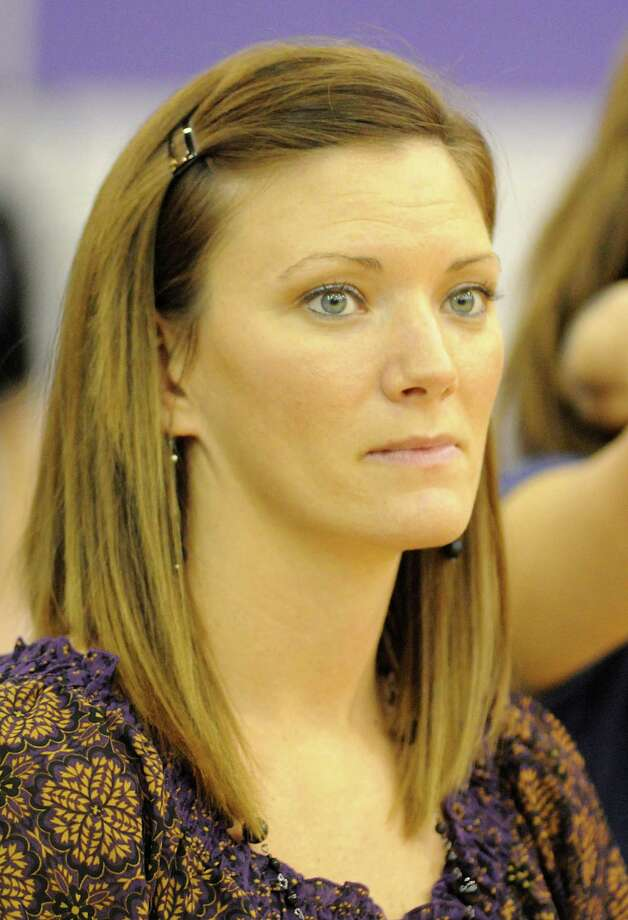 Montgomery volleyball coach Terri Wade during the Spring at Montgomery volleyball game. Photo: David Hopper, Freelance / Freelance