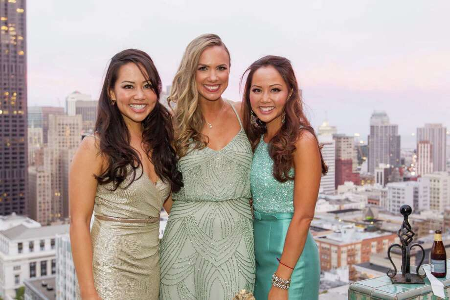Jessica Leung, Michelle Bertino and Emily Leung at the Spinsters of San Francisco Annual Ball on June 27, 2015. Photo: Drew Altizer Photography / © 2015 Drew Altizer Photography