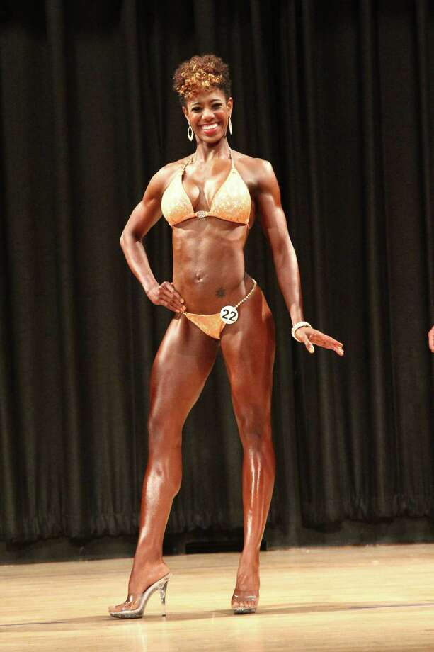 Sunni Ewing, 36, won the Bikini Open at the National Gym Association's South Texas Bodybuilding Championships in Stafford in June. Photo: Courtesy Brandon Countee / Handout