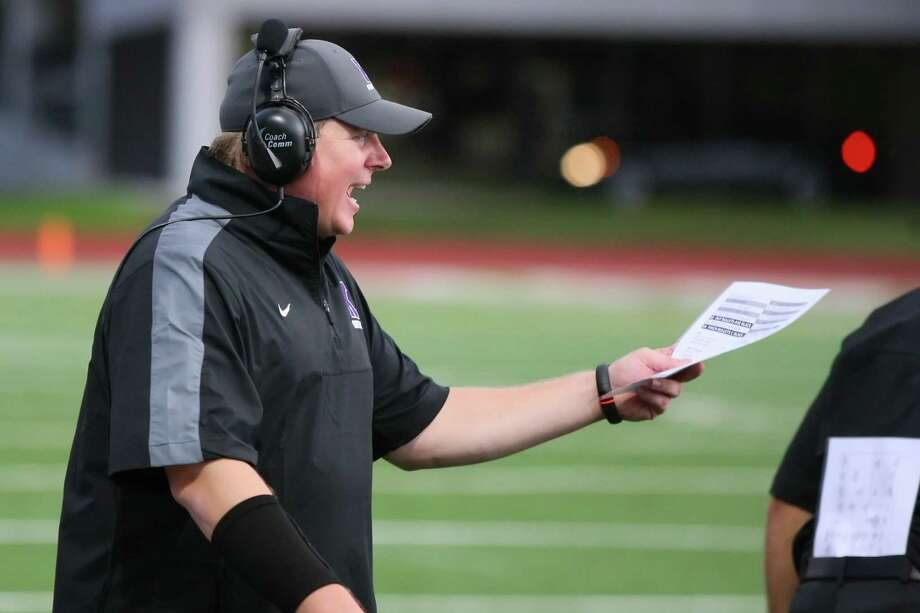 Kinkaid head coach Nathan Larned has high hopes to bring home the Southwest Preparatory Conference title this fall. Photo: Matthew White, Freelance / Freelance