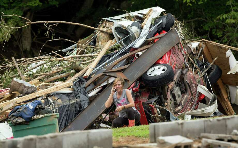Doris Hardin's mobile home in Flat Gap, Ky., was smashed by flash flooding. Trailers, vehicles and debris filled parts of rural Johnson County on Tuesday. Photo: David Stephenson, STR / FR171246 AP