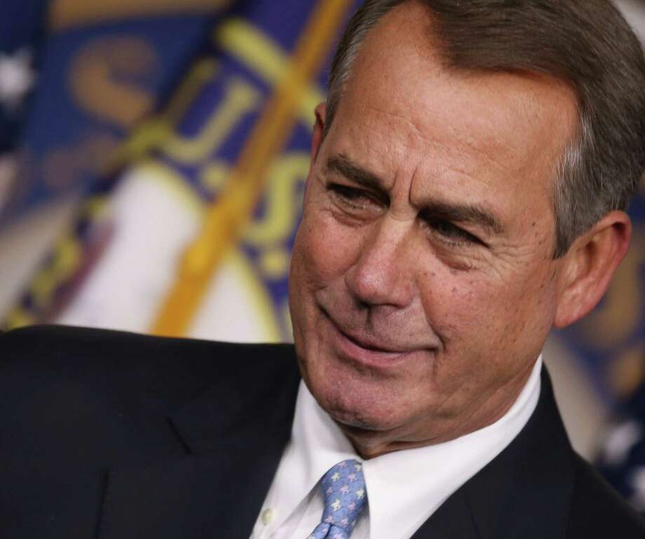 WASHINGTON, DC - MARCH 26:  House Speaker John Boehner (R-OH) speaks to the media during a news conference at the U.S. Capitol, March 26, 2015 in Washington, DC. Boehner will come to the Capital Region for the second time in less than a year to raise money for Elise Stefanik, (Photo by Mark Wilson/Getty Images) Photo: Mark Wilson / 2015 Getty Images