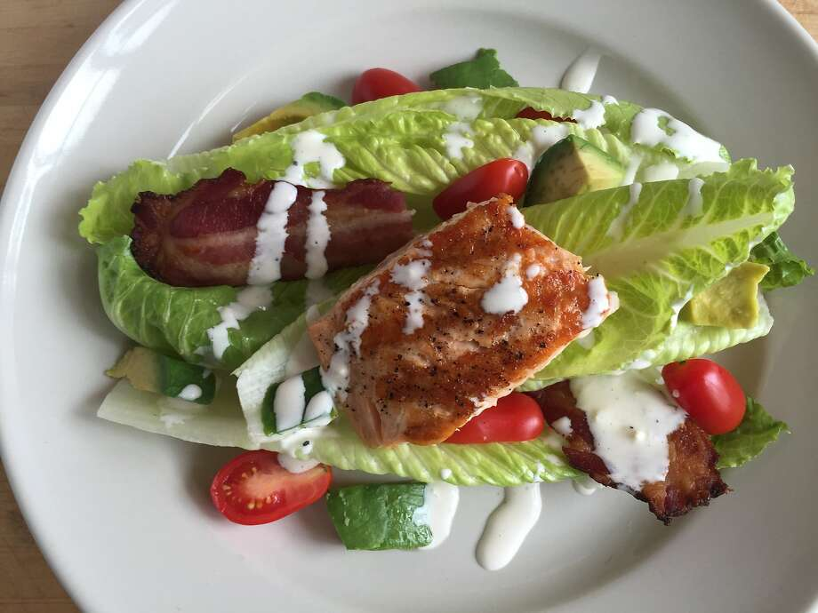 Salmon BLT salad. Photo: Amanda Gold