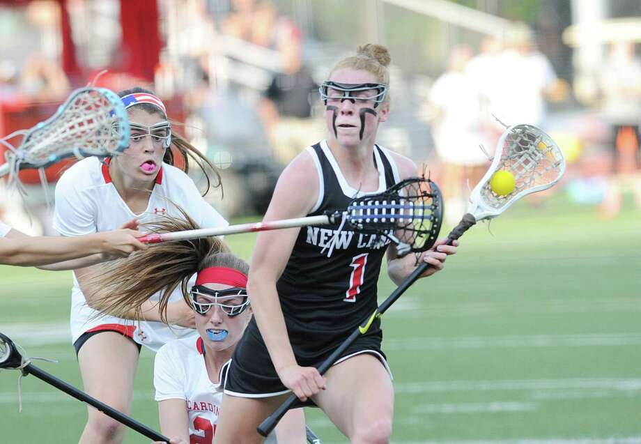 New Canaan's Elizabeth Miller is the Hearst Connecticut Media Girls Lacrosse MVP. Photo: Bob Luckey / Hearst Connecticut Media / Greenwich Time