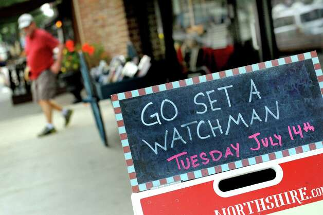 "A sign announces the arrival of Harper Lee's new book ""Go Set a Watchman"" on Tuesday, July 14, 2015, at Northshire Bookstore in Saratoga Springs, N.Y. (Cindy Schultz / Times Union) Photo: Cindy Schultz / 00032591A"