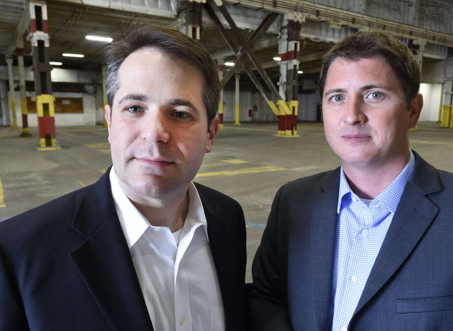 Ari Hoffnung, president and CEO of Fiorello Pharmaceuticals, left and Ryan Cook, general manager of The Clinic inspect the space in the Glenville Industrial and Technology facility Monday afternoon June 29, 2015 in Glenville, N.Y. This warehouse will house the medical marijuana production facility once approvals are granted to Fiorello. (Skip Dickstein/Times Union)