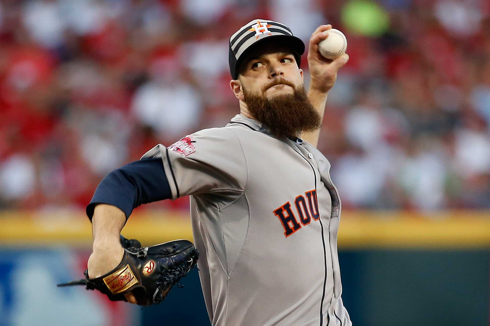 Now a world champ, Astros' Dallas Keuchel will shave beard, but when?