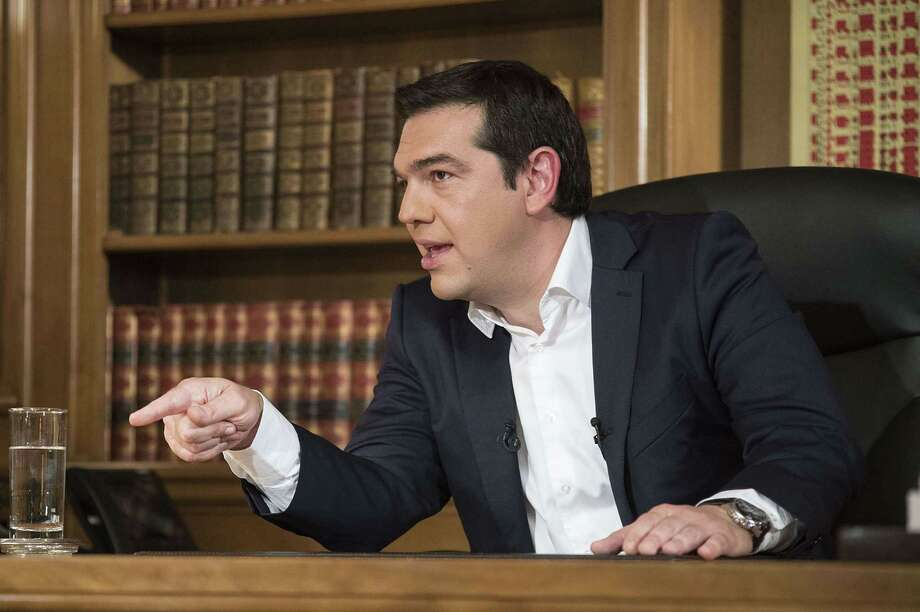 "In an interview on Greece's public television, Prime Minister Alexis Tsipras says: ""I assume responsibility for all mistakes I may have made, I assume responsibility for a text I do not believe in, but which I signed to avoid disaster for the country."" Photo: Andrea Bonetti /Getty Images / © 2015 ?T?????? ?????????? ????S?O? - ?????????? ?????????? ????S?O?"