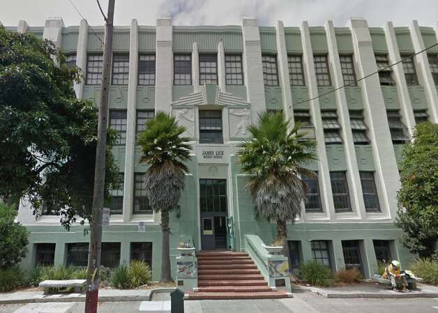 A much-expanded James Lick Middle School today. The school now serves close to 600 students. Photo: Google Maps