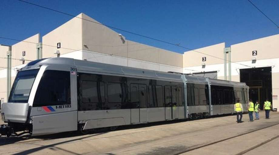New light rail:The new cars ordered to operate the new lines will finally go into service this month on the Red Line. Photo: Carolina Mendoza