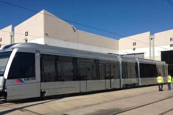 New light rail: The new cars ordered to operate the new lines will  finally go into service  this month on the Red Line.